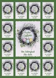 Aufkleber-Gruß-Karten: Frohe Ostern, 4 Stück