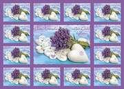 Aufkleber-Gruß-Karten: Gute Wünsche, 12 Stück