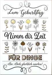 """Faltkarte """"Nimm dir Zeit"""" - Geburtstag"""