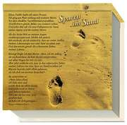 Notizblock: Spuren im Sand