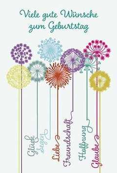 Faltkarte: Viele gute Wünsche zum Geburtstag