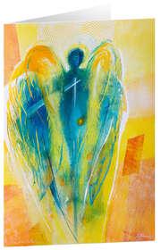 Engel des Neubeginns - Kunst-Faltkarten ohne Text (5 Stück)