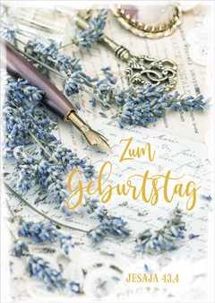 """Postkartenserie """"Zum Geburtstag"""" - 10 Stück"""