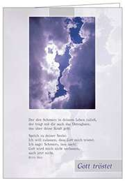 Faltkarte: Gott tröstet - Trauer
