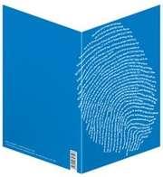 "Faltkarte ""Einzigartig, blau"" - 5er Serie"