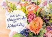 Faltkarte - Viele liebe Glückwünsche zum Geburtstag!