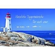 Herzliche Segenswünsche (Motiv Leuchtturm) - Faltkarte