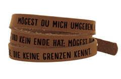 "Wickelarmband Leder ""Mögest du mich umgeben, Gott"""